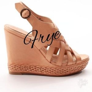 Frye Wedged Sandals! Gorgeous!